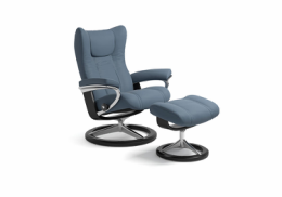 Stressless® Wing lænestol med signature stel i medium