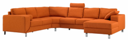 Ucreate orange hjørnesofa