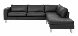 Royal Metz sofa med open end