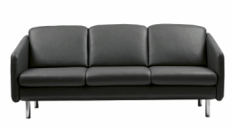 Stressless® Eve 3 pers sofa sort Batick læder