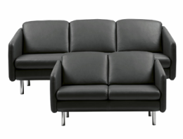 Stressless® Eve 3 + 2 pers sofa sort læder