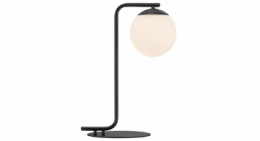 Grant sort bordlampe