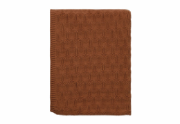 Södahl deco knit plaid terracotta