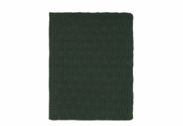 Södahl deco knit plaid deep green