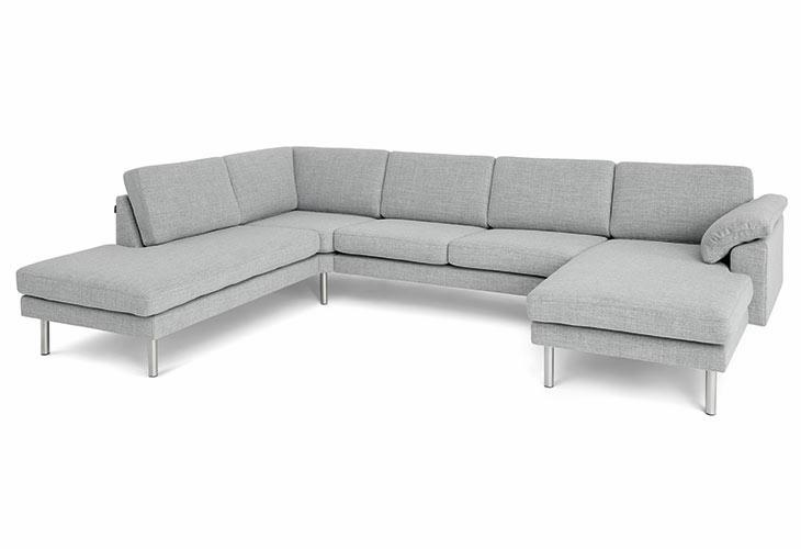Modulo hjørnesofa med open end og chaiselong