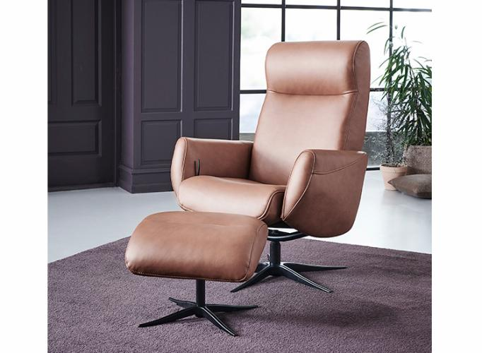 Global Comfort New York lænestol cognac