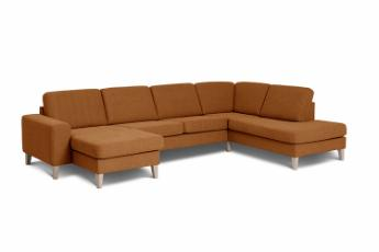 Visby sofa med chaiselong og open end