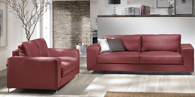 ucreate sofa i rød