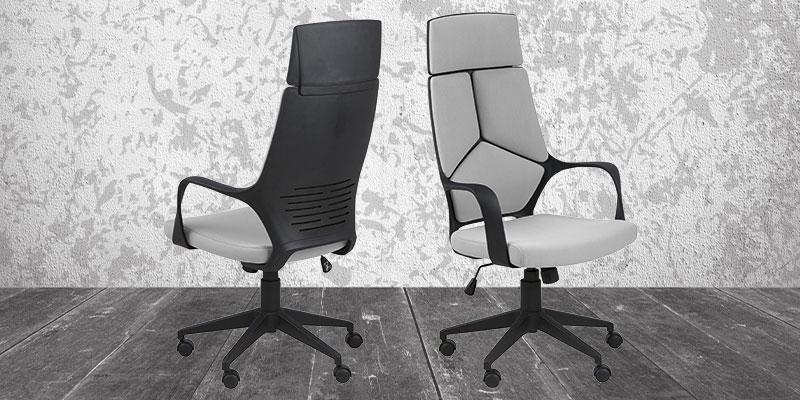 Smart kontorstol med høj ryg