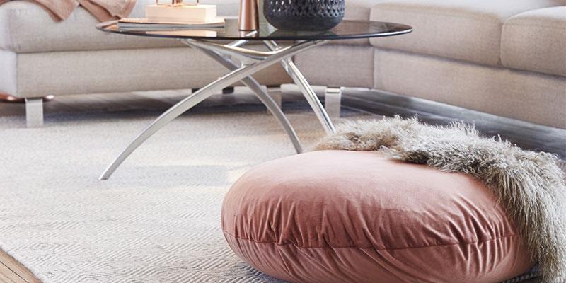 ucreate sofaopstilling med glassofabord