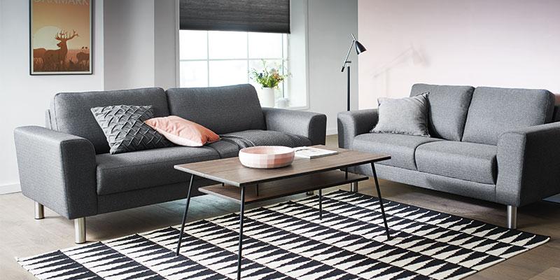 Stamford sofa opstilling i grå