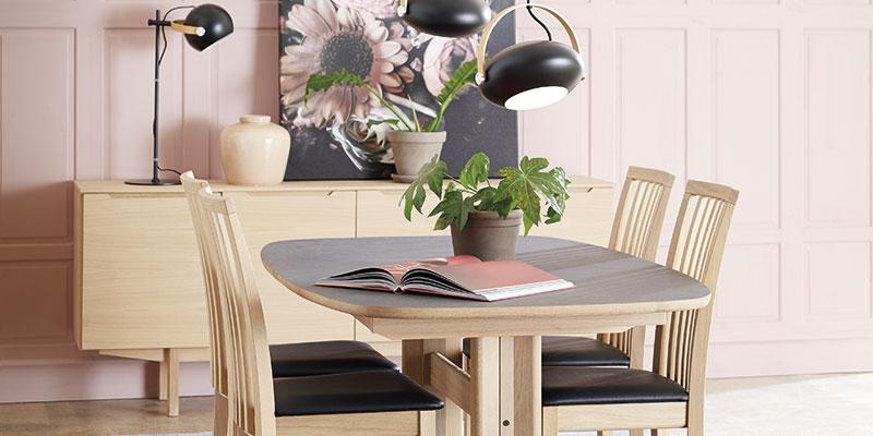 Skovby sm75 spisebord med stole