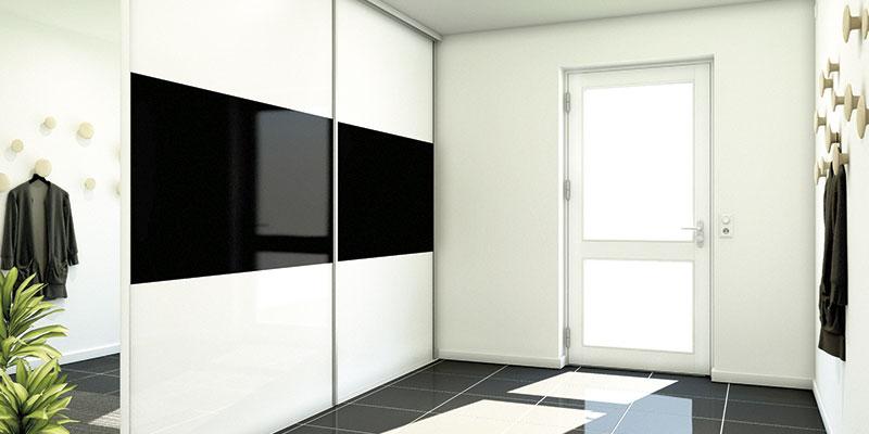 InRet garderobeskab med glaslåger
