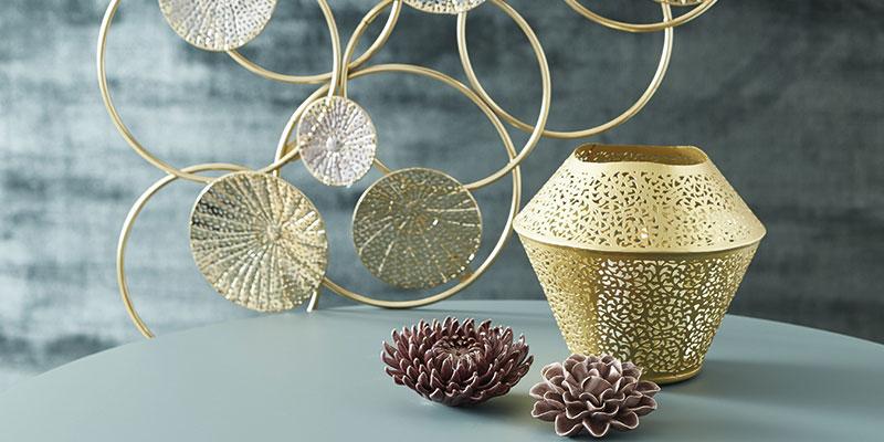 Dekorative elementer i guld