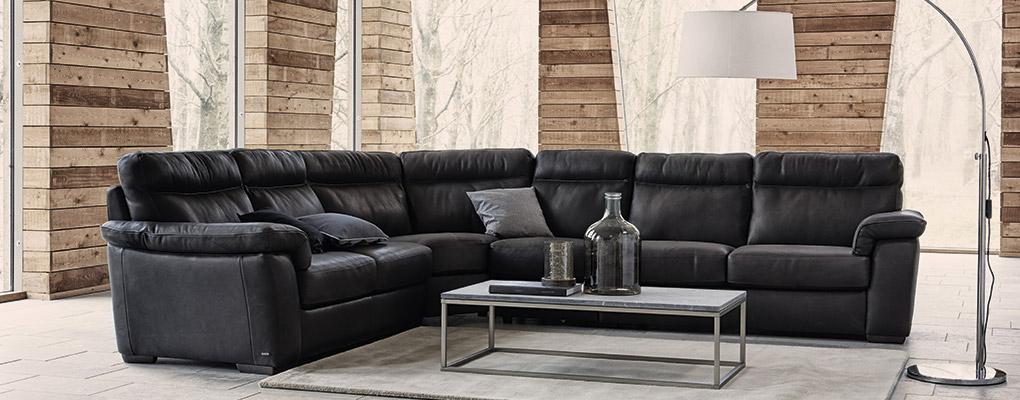 Natuzzi B757 sofa i læder