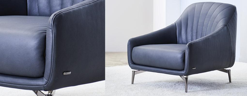 Natuzzi editions CO14 lænestol i smukt læder