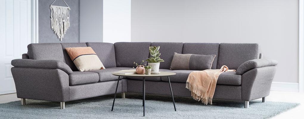 Stor symfoni sofa i antracite farve